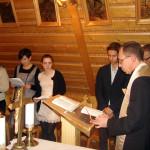 Wigilia 2014  - modlitwa w kaplicy